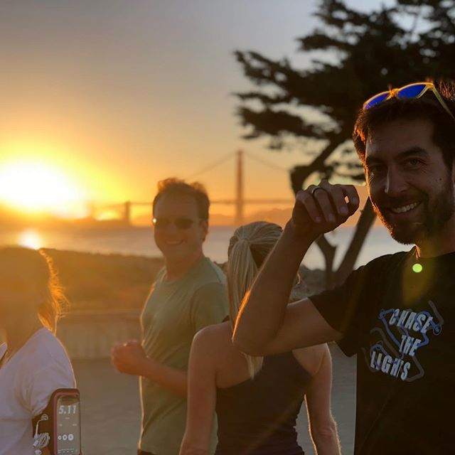 That look when you just registered for the next Chase the Lights race 😎 . Join us on October 27th for the next run! . #chasethelightssf #chasethelights #run #running #sanfrancisco #goldengatebridge #sunsetrun
