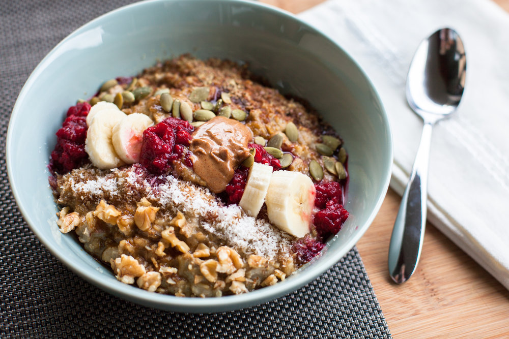 Pre/post workout is the only time I can eat a carb dense meal like oatmeal and be guaranteed steady energy levels afterwards... I also add protein powder and healthy fats, like nuts, seeds, and almond butter to it to slow down digestion.