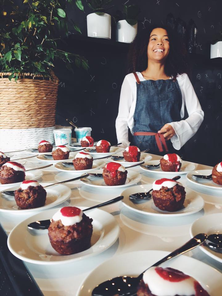 Serving up the muffins at the lavish Ladies event in Taupo, New Zealand!