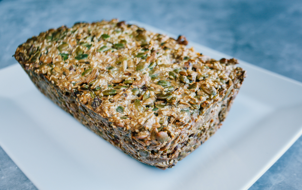 Nuts and Seeds Galore  Bread  - Prep time: 10 minutesCook time: 1 hour 5 minutesPaleo, Whole30Dairy free, grain-free, sugar-free