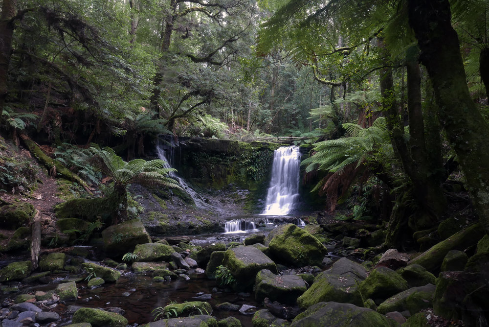 The wonders of slower shutter speed discovered at last! Horseshoe Falls, Tasmania.
