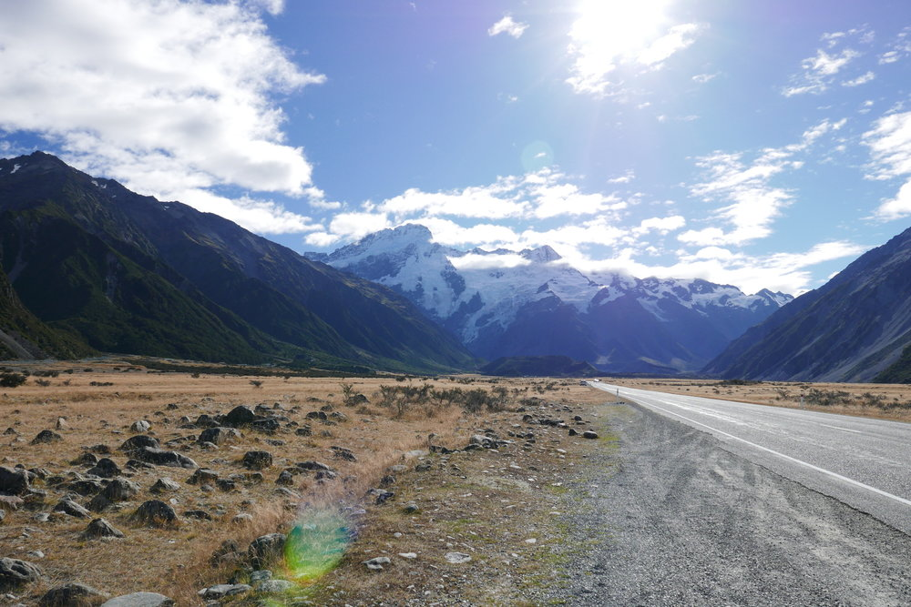 On our way to Aoraki/Mount Cook National Park
