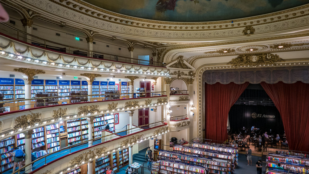 Awesome book store in an old theathre