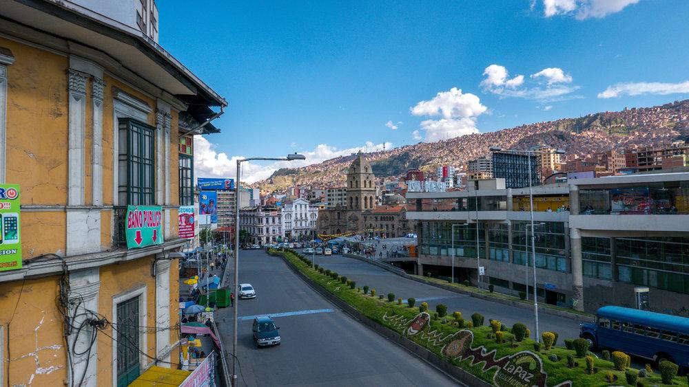 Main street of La Paz
