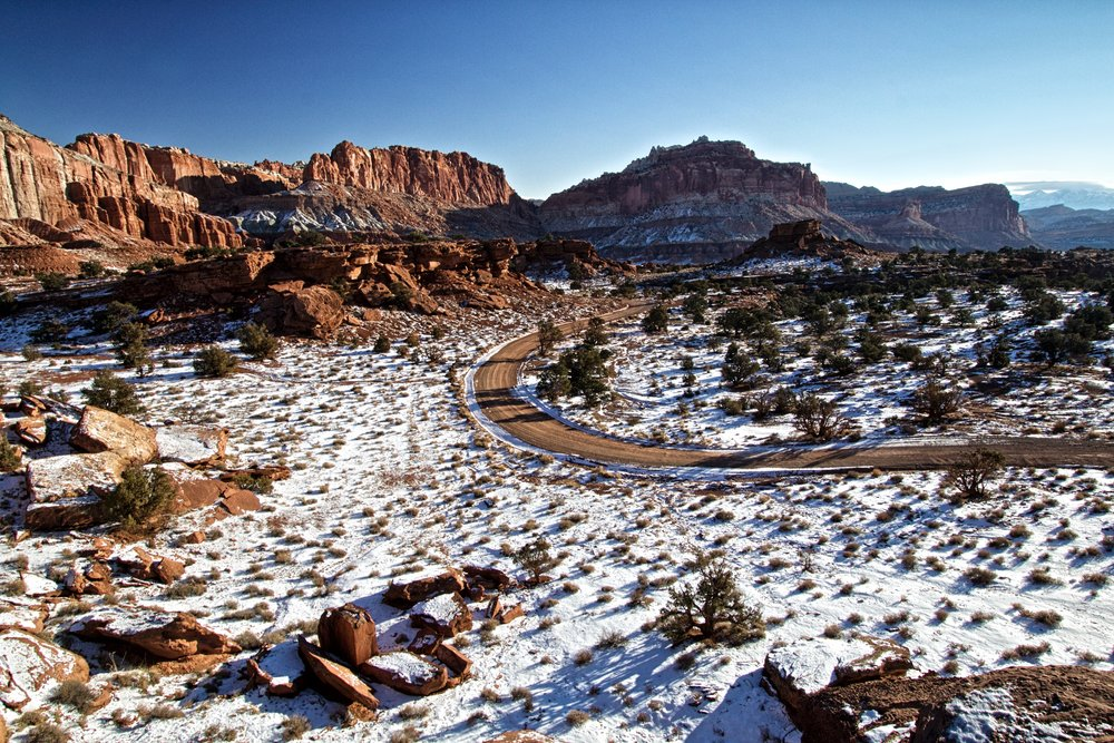 Capitol Reef in Winter - ©️ Nicole Atkins