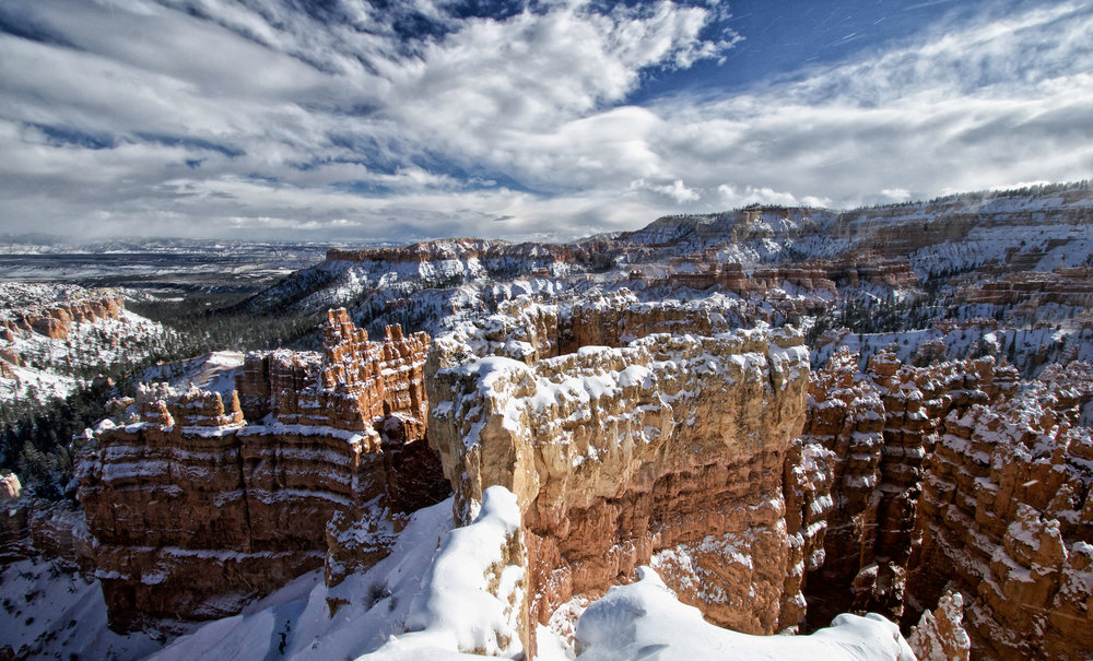 Snow-Capped Amphitheater Close-Up in Bryce Canyon - ©️ Nicole Atkins