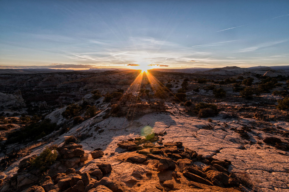 Desert Sunrise in Grand Staircase-Escalante National Monument - ©️ Nicole Atkins Modern Outdoors