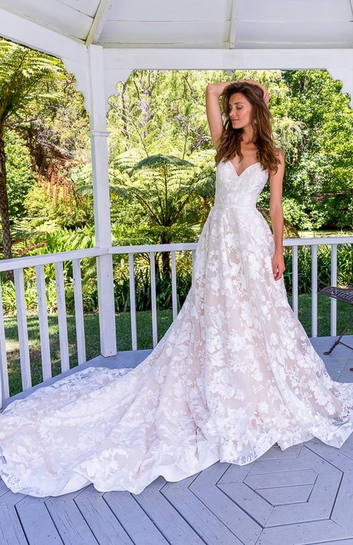 NINA-Lace Wedding Dress — Sarah Joseph Couture