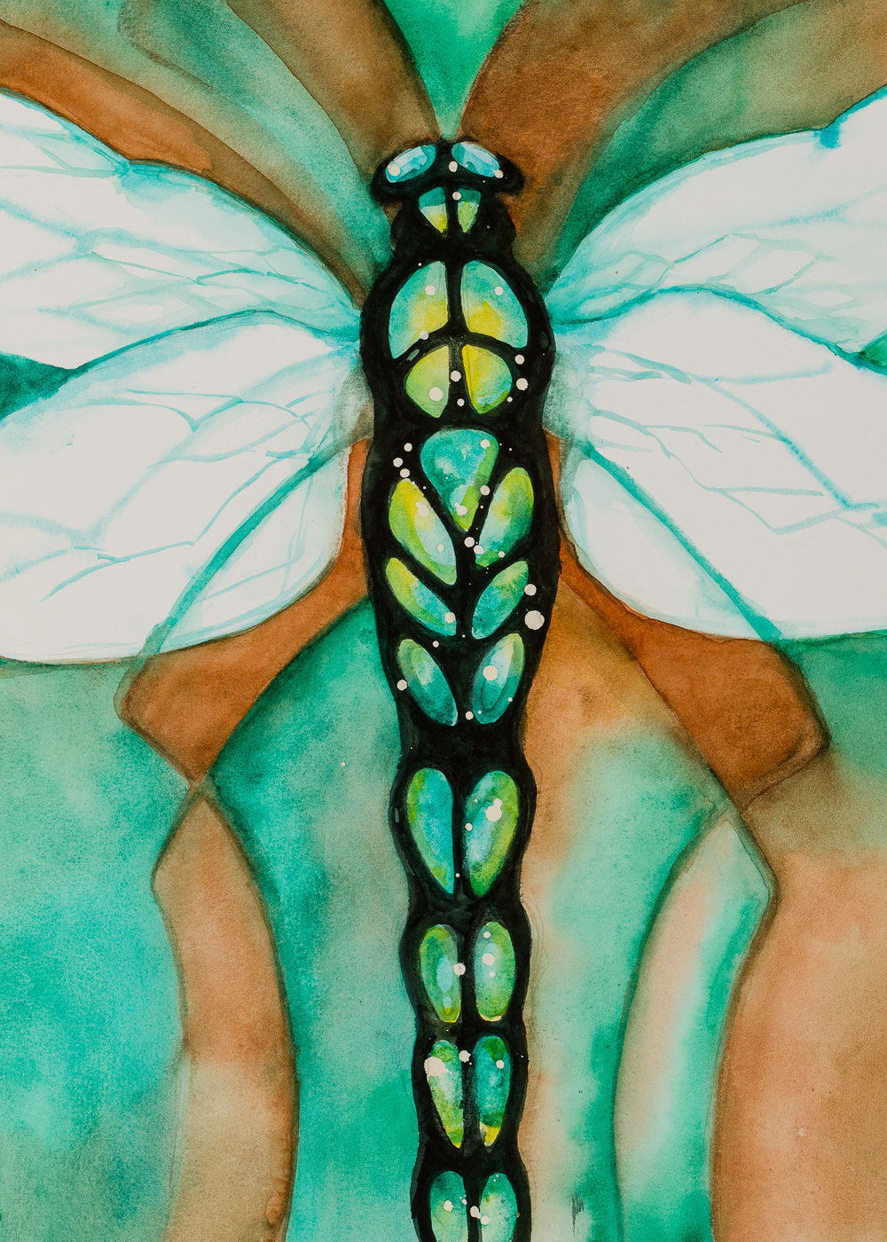 WINGS    Click on image for size and material options.   Prints Available from $59 - $190  Authentic Watercolor on Archival Paper  Original Art Sold  2001  Artist: Karen Thornberg
