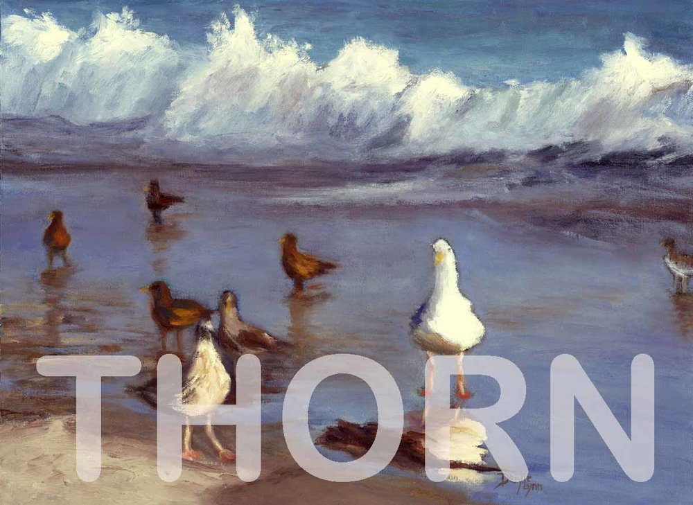 "SHORE BIRDS    Click on image for size and material options.   Prints Available from $29 - $360  Authentic Oil 20""w x 16""h  Original Art For Sale $495  2015  Artist: Daryle Lynn Cornelison"