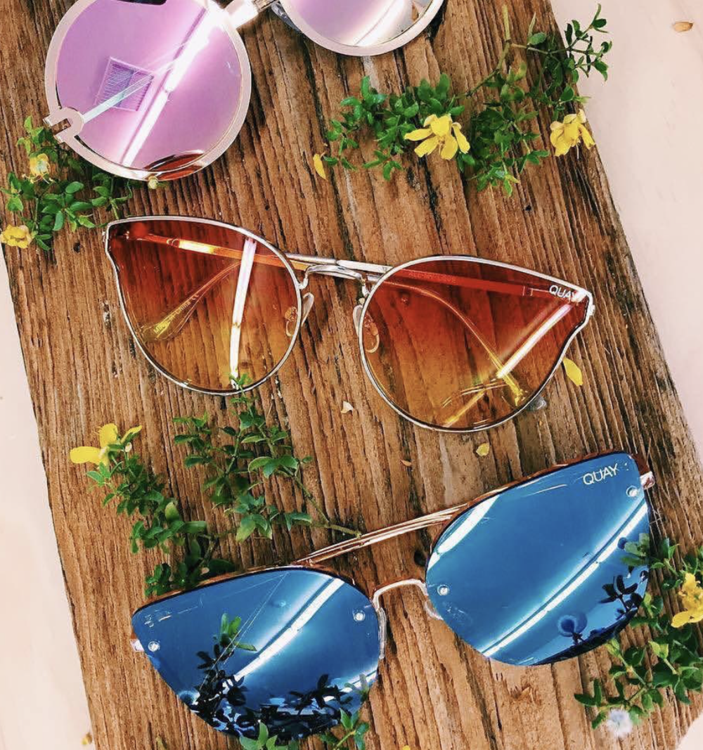 Quay Australia  - If there's ever a time to wear fun sunglasses, it's on vacation. Colorful lenses are in trend this summer. Quay will make sure you get the stylish summer look without spending a fortune on your sunglasses! $40- $65; quayaustralia.com