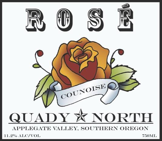 Quady North Counoise Rosé label