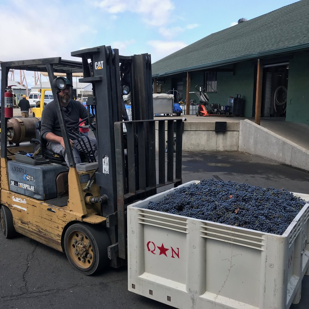 Photo of Herb driving forklift