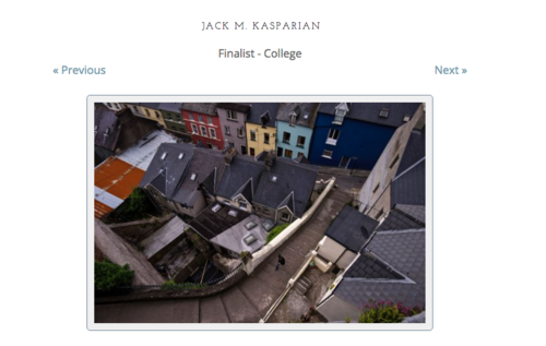 Photographer's Forum Finalist - Jack Kasparian was awarded a finalist position among thousands of other contestants in Photographer's Forum 37th annual college & high school photography contest.http://pfmagazine.com/wp-content/plugins/p-gallery/index.php?level=picture&id=53193