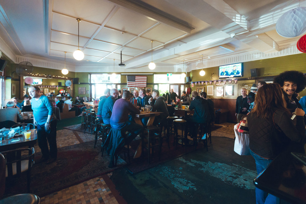 Main Bar - Perfect for a bigger crowd, the main bar is where the action happens. In prime position for watching sports on the big screen, this space places you smack-bang next to the bar and right in the heart of the Erko.