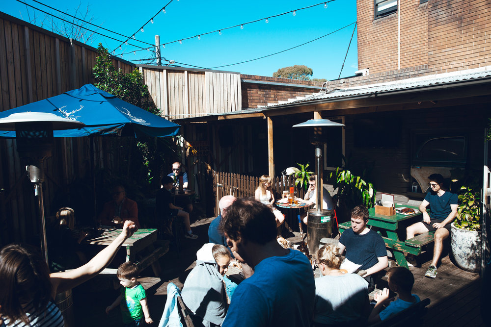 Courtyard - A frequent feature in many Top Sydney Beer Garden lists, our Courtyard provides our guests with covered and uncovered outdoor areas. Equipped with heaters, long tables & the Erko's famous Smoker, the Courtyard is an ideal spot for any sort of event or get-together. The Courtyard becomes smoke-friendly after 5pm.