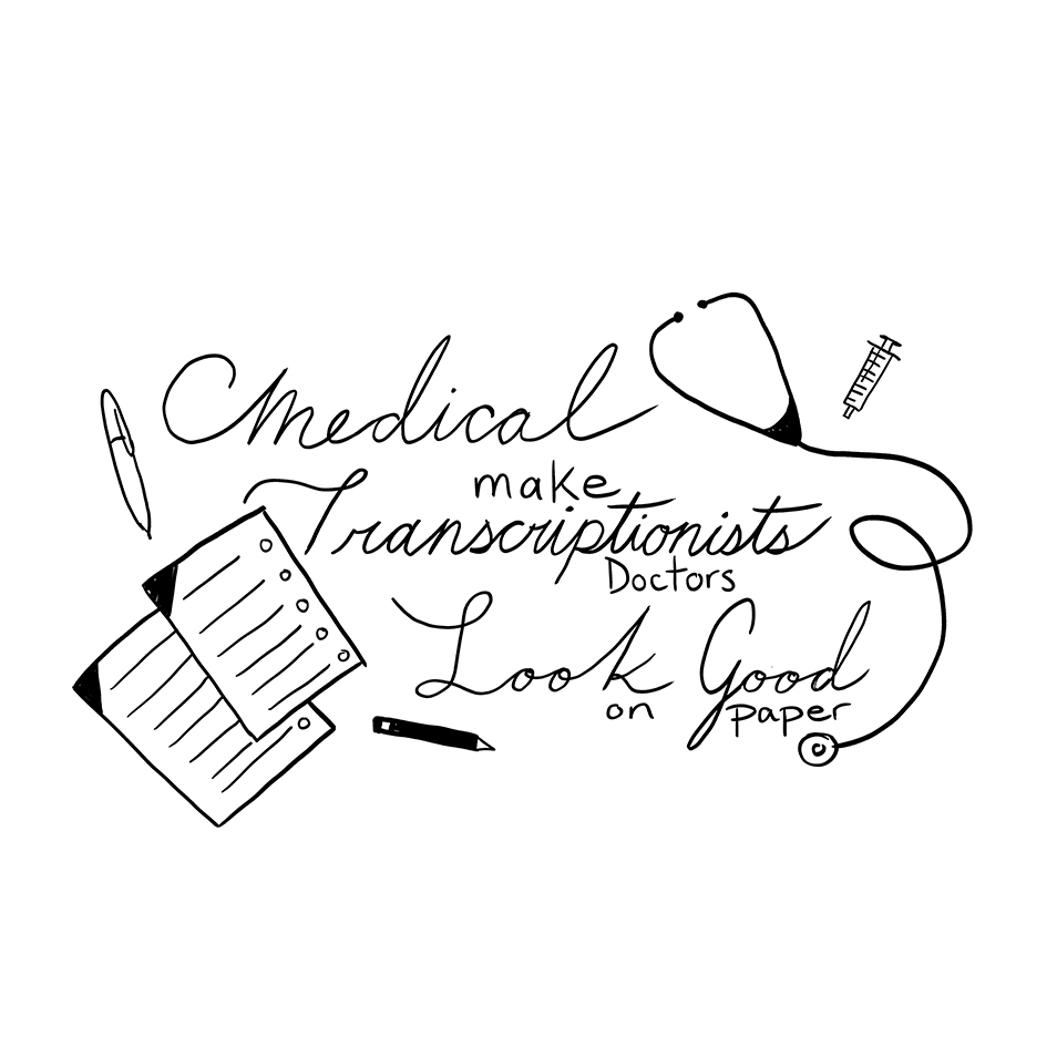 Medical Transcriptionist T Shirt Olivia Commini