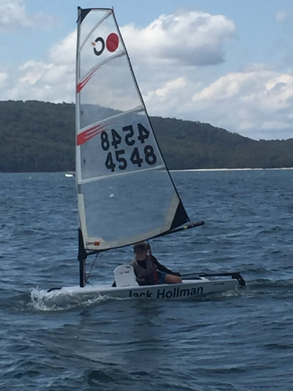 First solo sail
