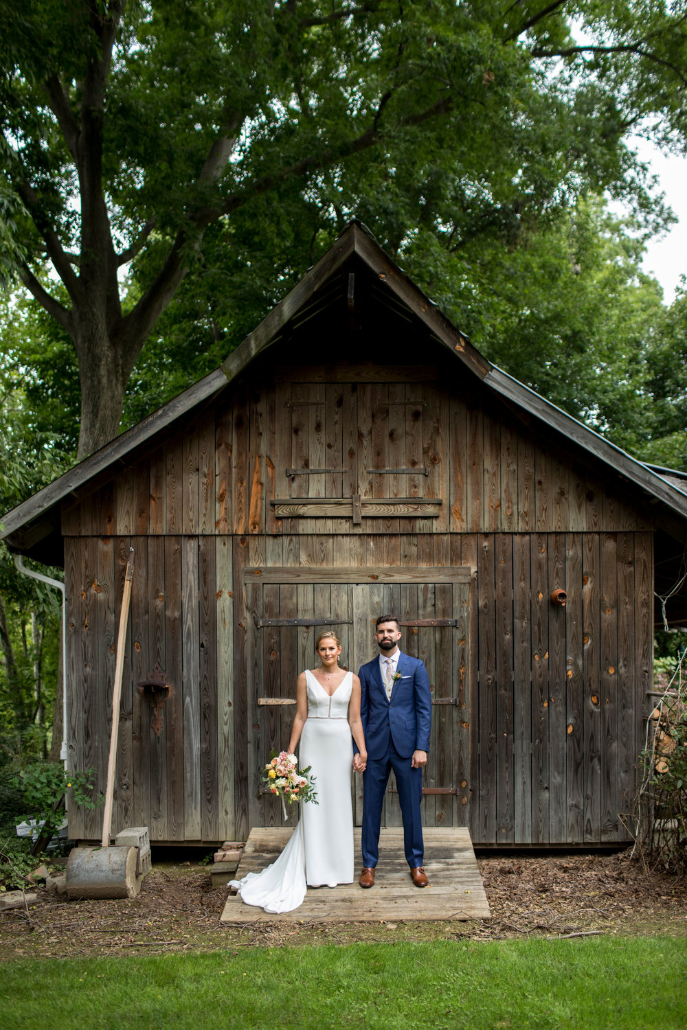 The Bride + Groom during their First Look Photos!  Photography by Zachary Hartzell Photography, LLC