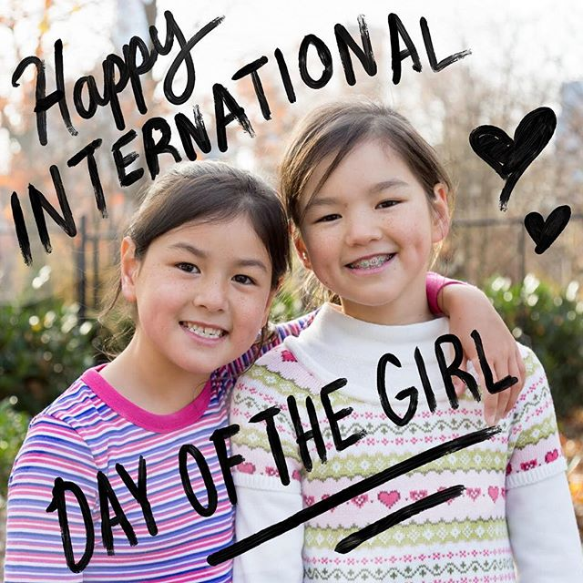 Wishing you and the little ladies in your life all the #GIRLPOWER in the world. #thewhenproject #dayofthegirl
