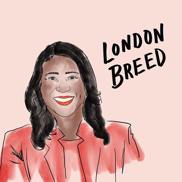 Congrats to the first African-American woman to be elected San Francisco's Mayor. #girlpower @londonbreed