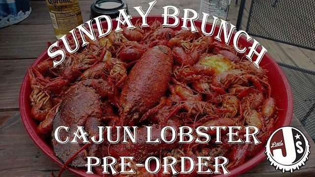 Have you wanted to try our famous cajun Maine lobster? Well now you can! We will have them available on Sunday's, only via reservation! You can reserve yours today with the link below!  https://www.littlejsbar.com/sundaybrunch/