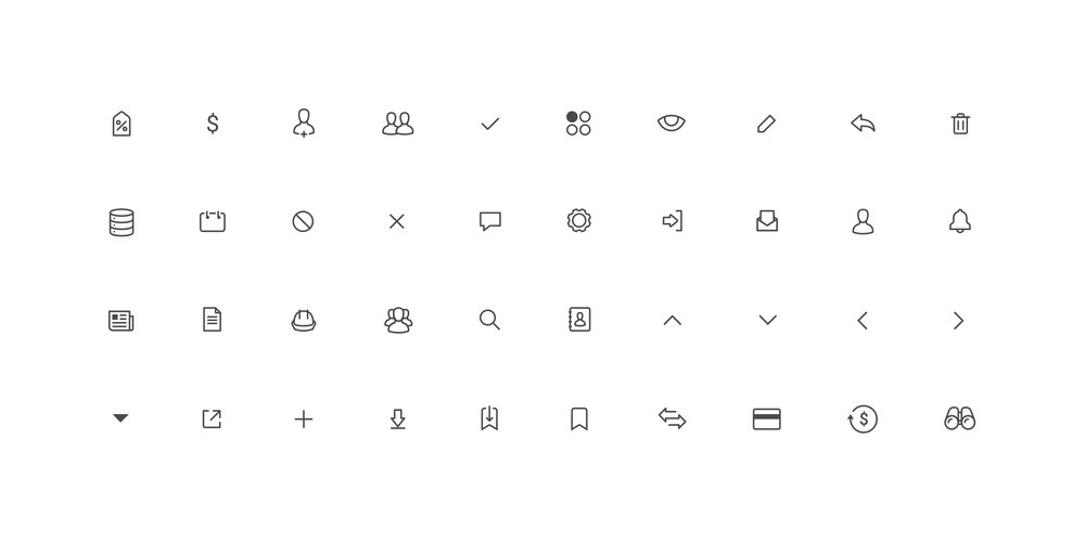 Custom Icon Font - A custom icon font was created for Construct A Lead to help users understand different functions. The icon font also helped with scaling and speed of the platform.