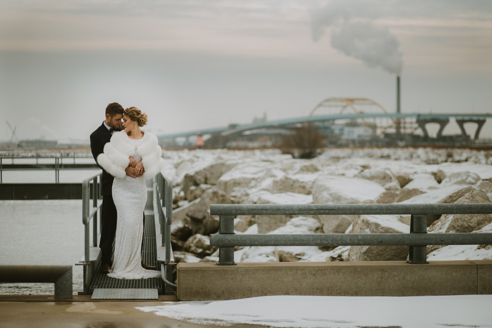 Winter Elopement in Milwaukee