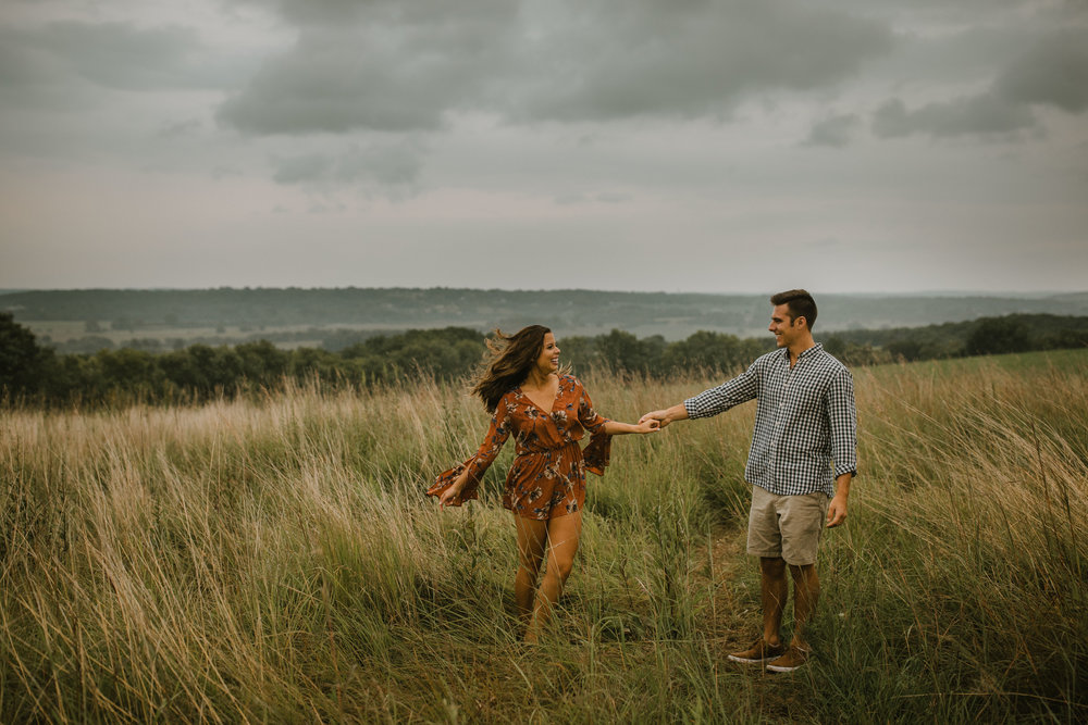 Rainy Waukesha Engagement Session