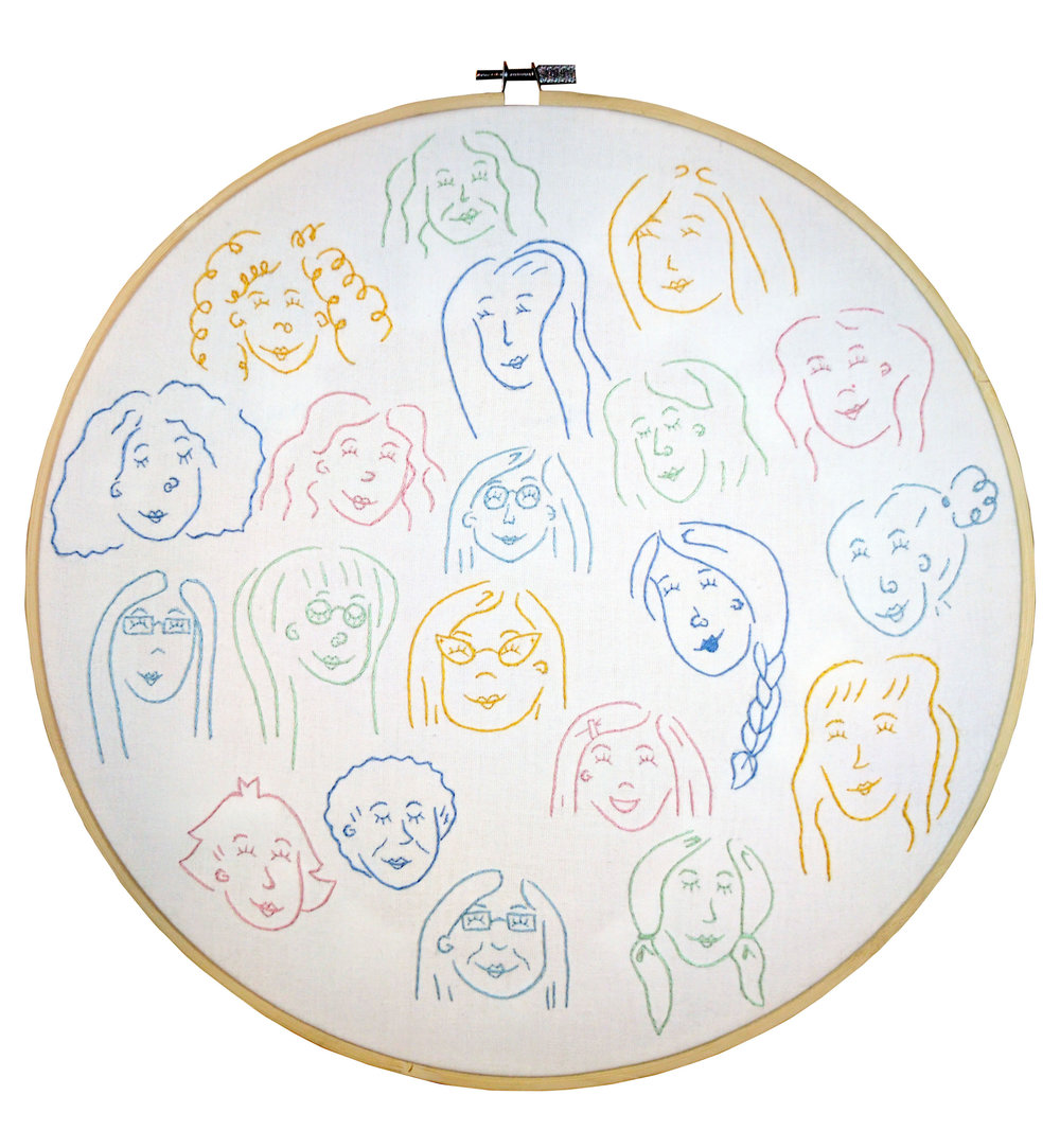Sewing Circle , embroidery 2017