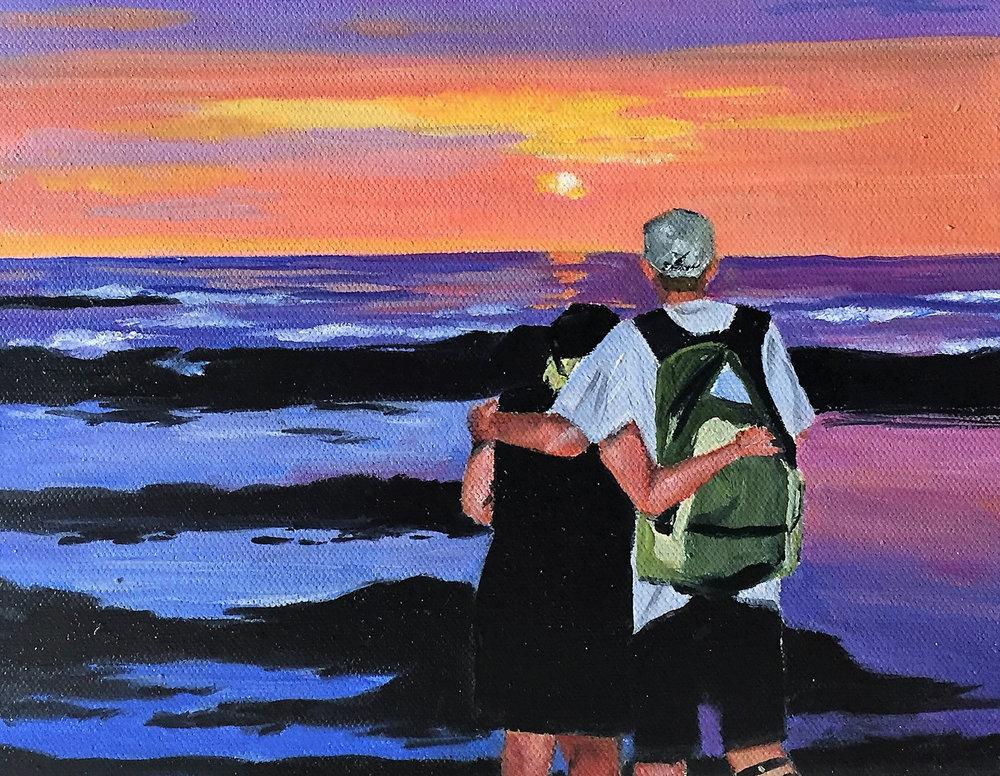 custom oil watercolor painting
