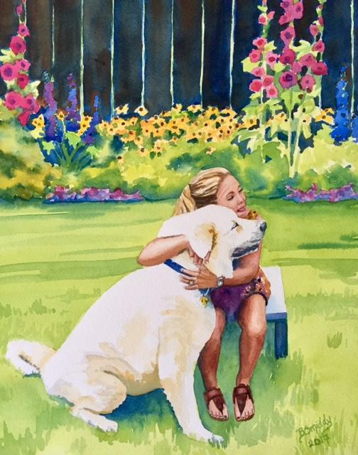 the final watercolor..... in memory of goddi