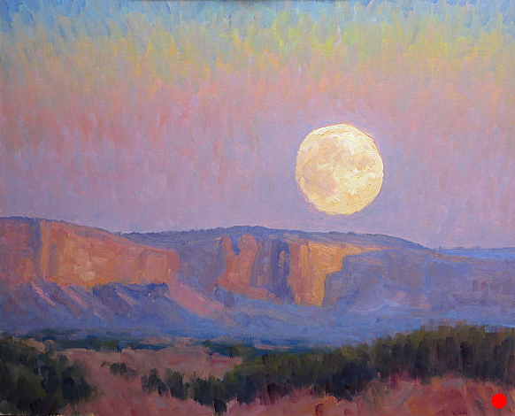 Moonset Monument Valley