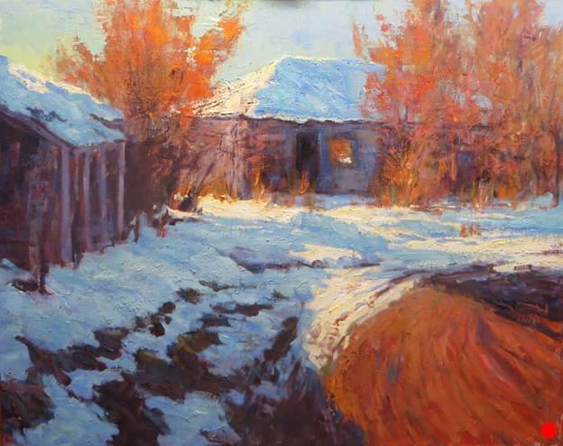 Winter in Arroyo Seco-SOLD