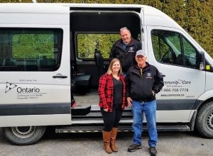 Kaylee McIImoyle – CCN Van Scheduler with CCN Drivers Larry Stoutenberg and George Bembich.