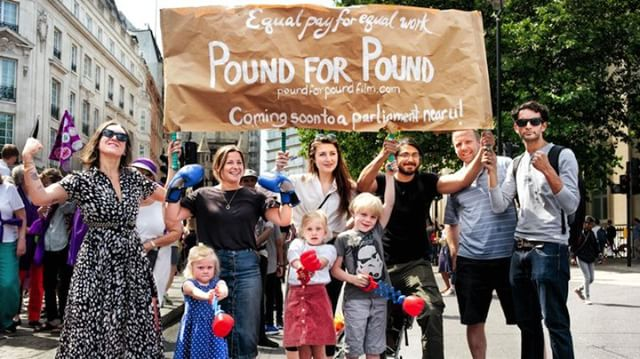Announcing Pound for Pound the true story of the first fight for equal pay-buried in history. Today marks the 100 year anniversary of the end of that strike-was it successful? You'll have to watch the film to find out! http://ow.ly/hwg630lyngo #PoundforPoundMovie #EqualPay
