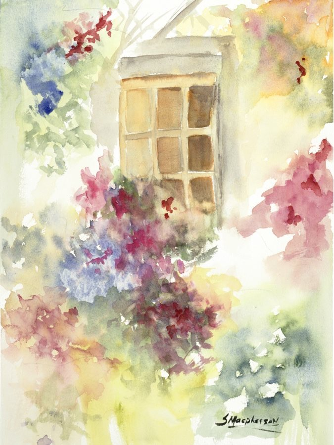 This was painted in Fabio's workshop after watching his painting demo.  The last painting in blog is Fabio's window box he painted in workshop.