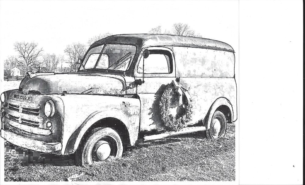 Newest sketching and planning for the 1930 Dodge Truck Painting Soon