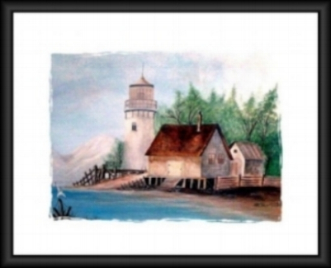 Lighthouse by the sea Painting- Sold