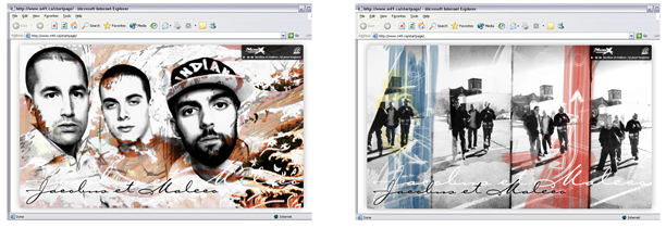 Jacobus et Maleco | 2005 - Web design and illustration - Media player