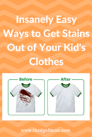 Get those tough stains out of your kid's clothes with these helpful tips!