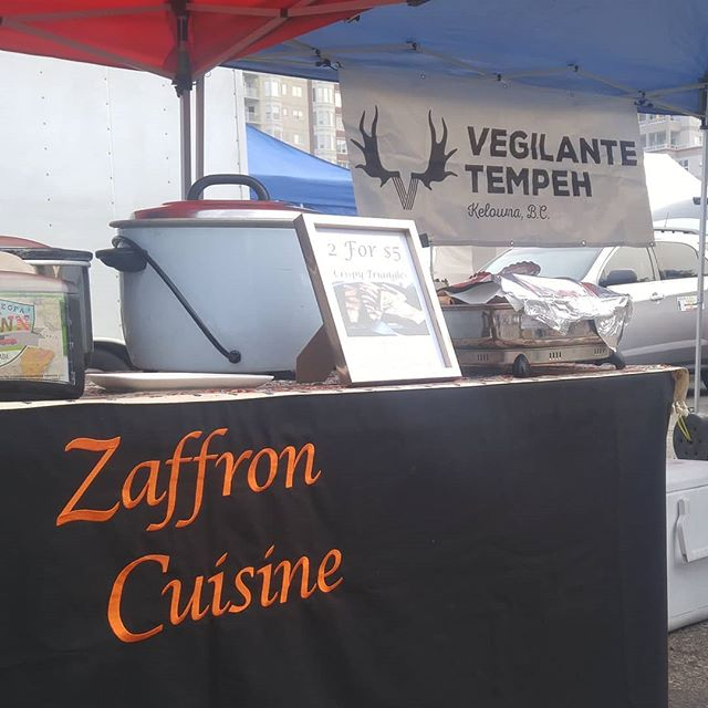 Starting at 10:30 at the @kelownafarmersmarket, Zaffron Cuisine and ourselves will be hosting a cooking demo. We will be showcasing 2 easy sandwichess - a tempeh lettuce tomato 🍅 and our favourite fermented feast.