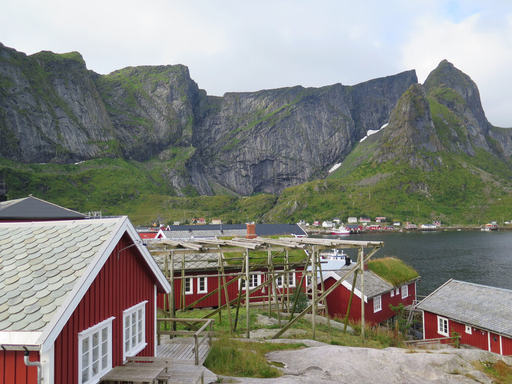 View from the Reine Rorbuers