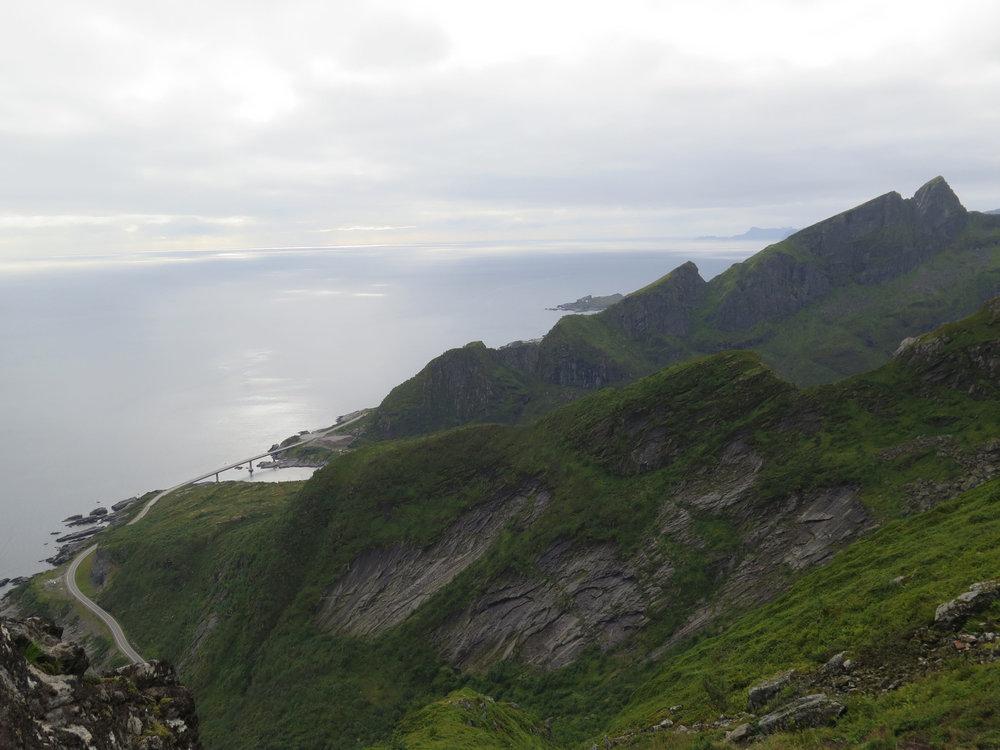 Back view (hike side) of Reinebringen