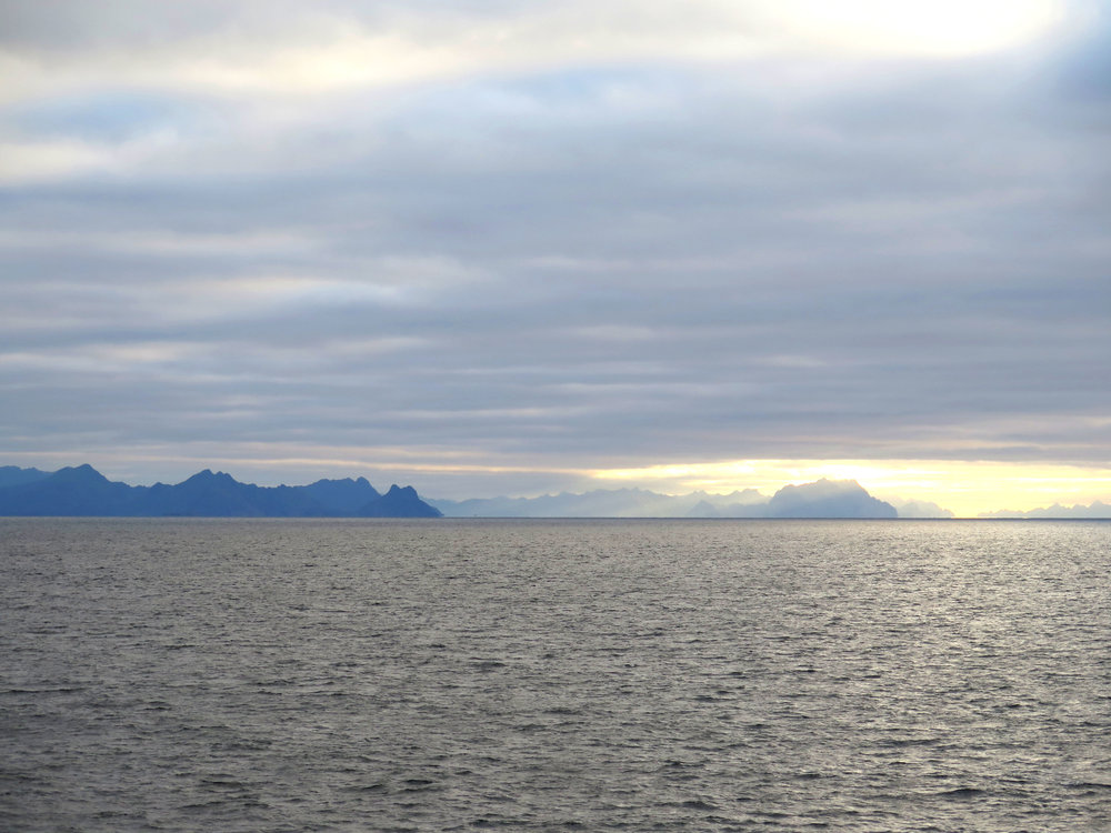View of Lofoten from the ferry home