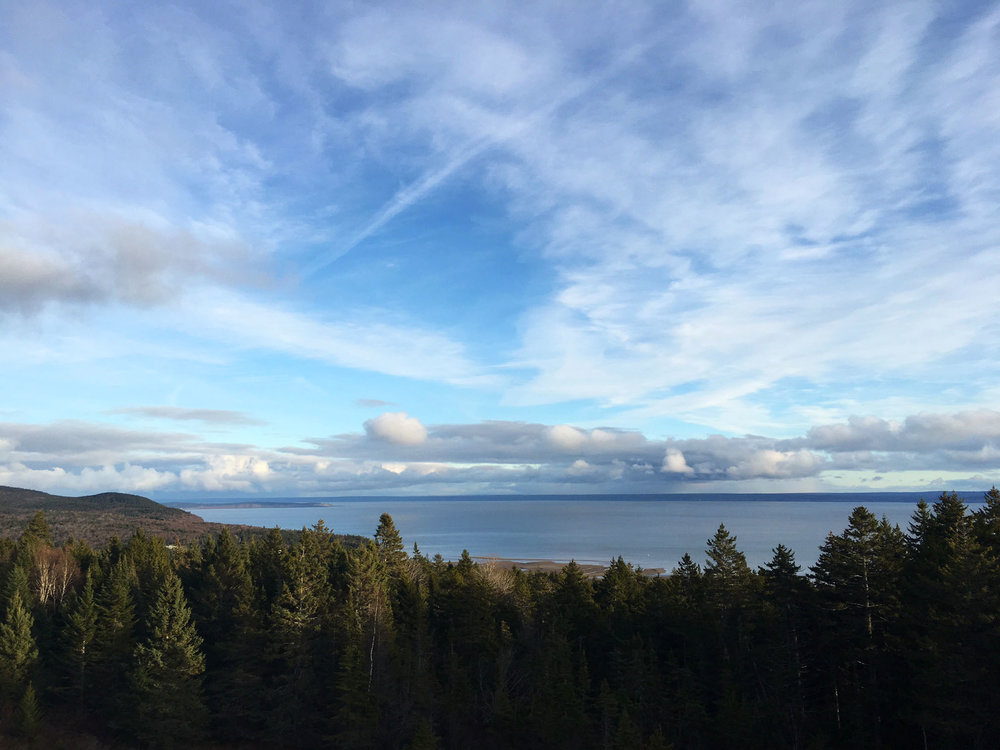 View of Bay of Fundy from Fundy National Park