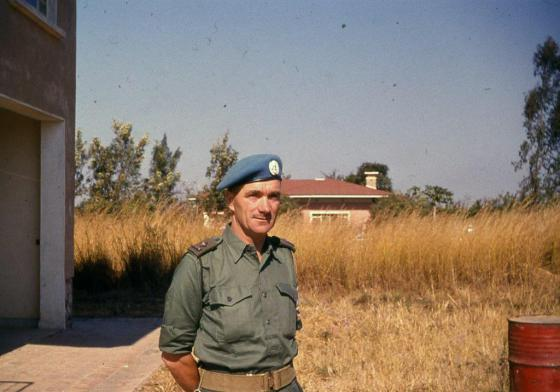 Comdr Pat Quinlan photographed in the Congo, 1961
