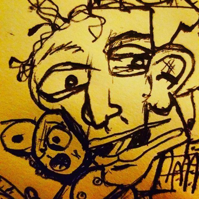 #sketchbook #sketching #doodling #doodle #charactersketch #pendrawing #characterdesign #characterdrawing #sketch #sketchbookart #drawing #expressionism #instaartist #abstractexpressionism #abstractart #abstractdrawing