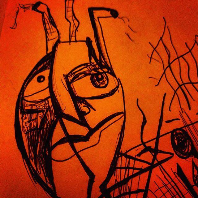 #sketchbook #sketching #doodling #doodle #charactersketch #pendrawing #characterdesign #characterdrawing #drawing #expressionism #art #pensketch #instaart #instart #abstractexpressionism #modernart #artist #emergingart #emergingartist