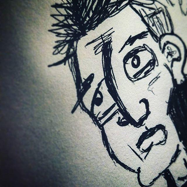 #sketchbook #sketching #doodling #doodle #charactersketch #pendrawing #characterdesign #characterdrawing #drawing #expressionism #instaartist #sketchbookart #sketch #anxiety #emotions #feelings #art #instart